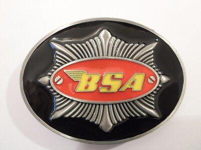 BSA ROCKET GOLD STAR TWIN FLASH TANK BADGE A7 A10 A65 VINTAGE METAL BELT BUCKLE