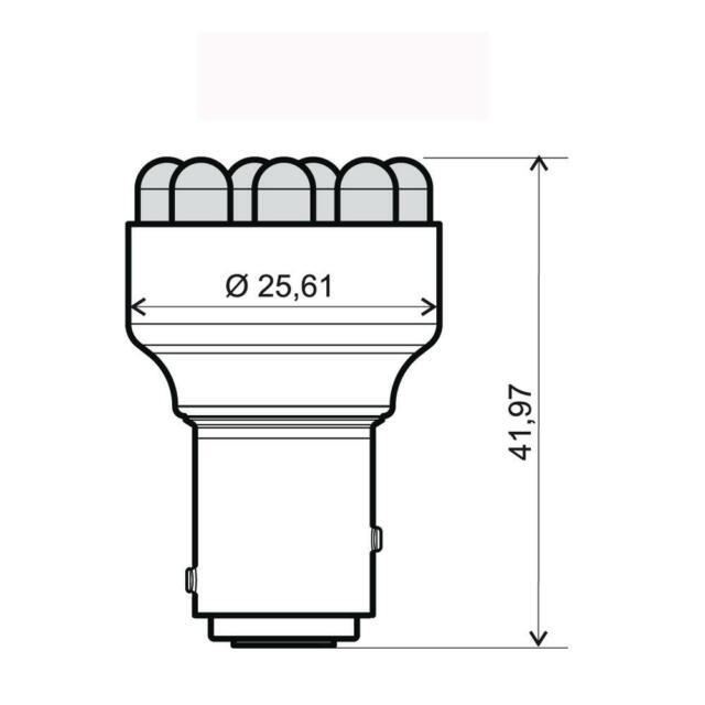 LED 12V BAY15D 12LED DUAL BLU