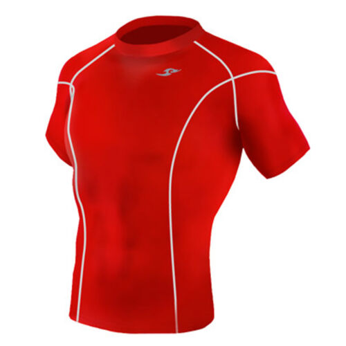 Take Five Mens Skin Tight Compression Base Layer Running Shirt S~2XL Red 036