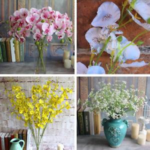 3pcs-MAZZO-DI-FIORI-ARTIFICIALI-PHALAENOPSIS-Orchidea-Gypsophila-Finta-Decorazione-Floreale