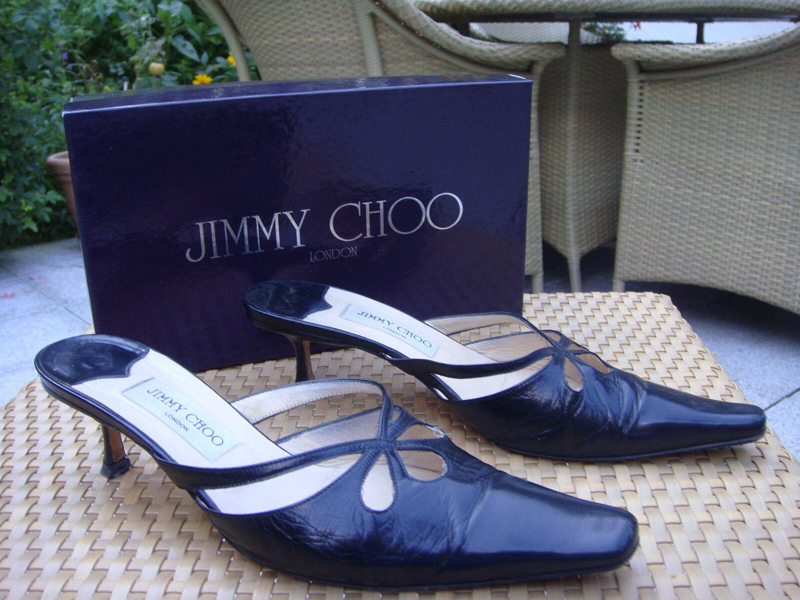 JIMMY CHOO LONDON Schuhe Slingbacks Gr.41 Schwarz