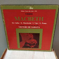 VERDI Macbeth - MARIA CALLAS - De Sabata - La Scala 1952 - CETRA LO-10 3LP