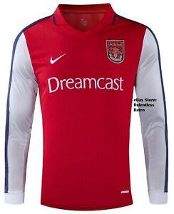 Arsenal-Home-Football-Shirt-Retro-2001-2002-Classic-perche-indossare-2021-Taglia-Large-L