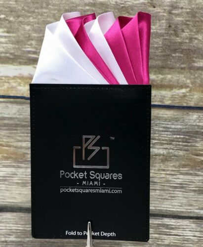 Pre Folded Pocket Square....Satin Capri Collection