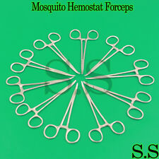 10 Pcs Mosquito Hemostat Locking Forceps 5 Curved For Surgical And Dental Use