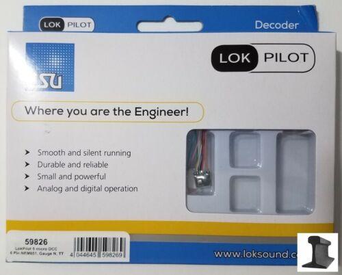 Esu 59826 ~ Novo 2020 ~ lokpilot Micro ~ V5.0 Dcc decodificador ~ 6 Pinos com arnês