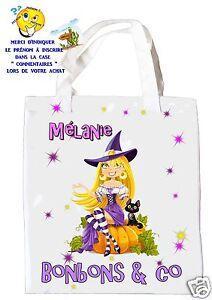 sac à bonbons halloween sorcière shopping sac à cadeaux réf 05
