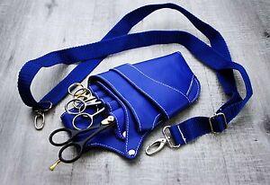 BLUE-BARBER-SALOON-HAIRDRESSING-SCISSOR-AND-COMB-HOLSTER-WAIST-Hairdressing-Bag