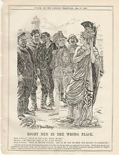 1905 Punch Cartoon British Waters 59 Alien Pilots Right Men in Wrong Place