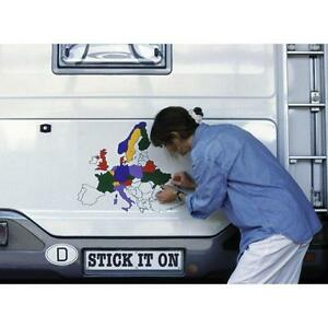 Europe Map Sticker Set Decal for Motorhomes Caravans Camper Van Boat ...