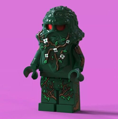 LEGO Custom PAD Printed DC Comics Swamp Thing Minifigure Minifig LIMITED EDITION