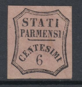 ITALY-PARMA-Ducate-1853-Giornali-n-1-MH-signed-Diena-cv-7000-Certificated