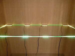 LED-Glasregal-Vitrinenbeleuchtung-Clipleuchten-Set-Lichtfarbe-weiss-Dekoration