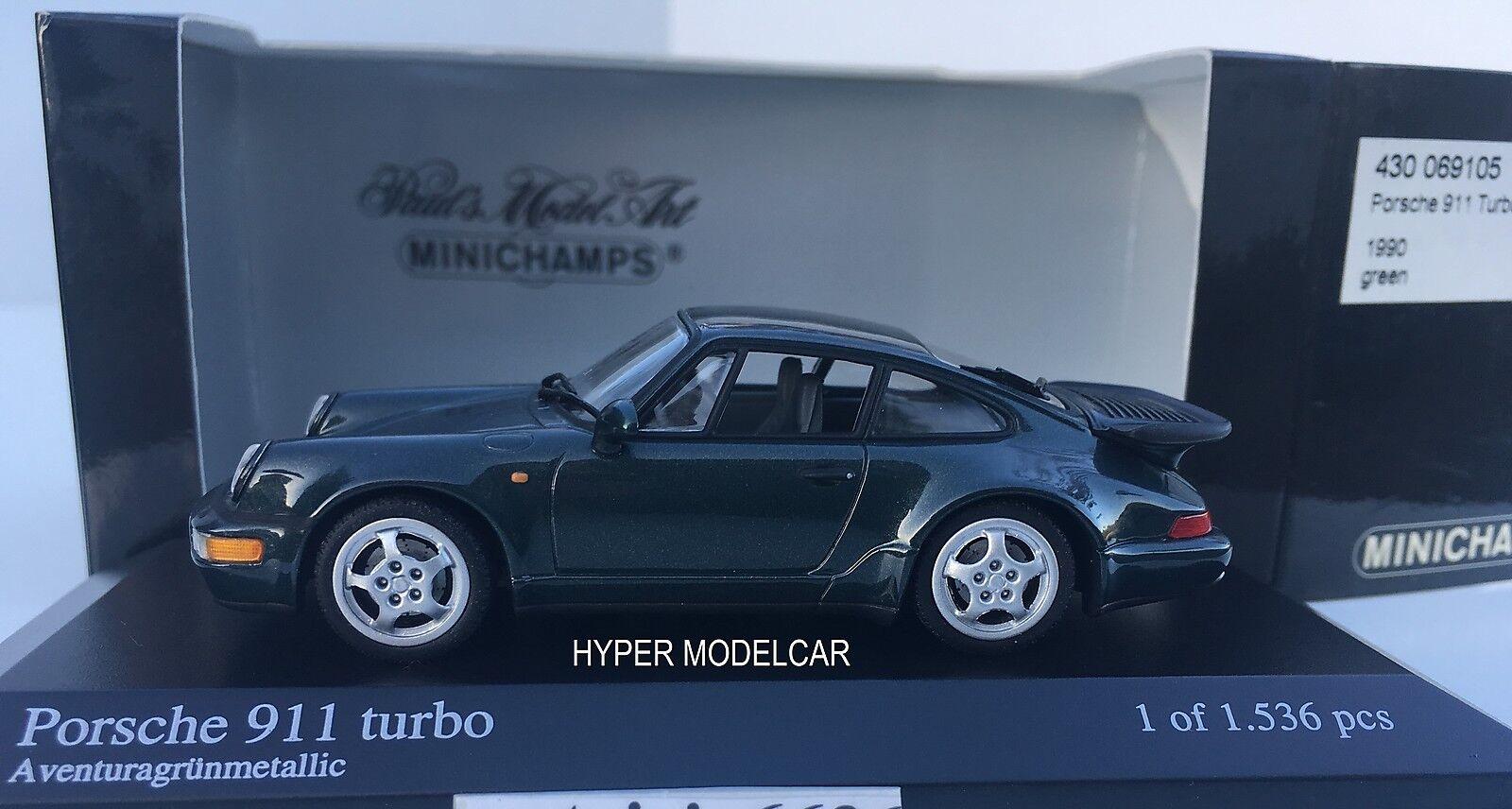 Minichamps 1 43 Porsche 911 Turbo (964) 1990 Grün Met. Art.430069105