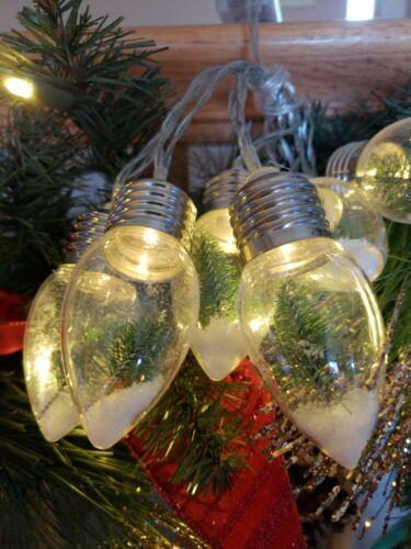 2 Packs Target Bullseye Playground Christmas Tree Snow Globe String Lights