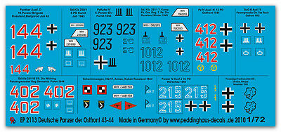 1/72 Ep 2113 Carri Armati Tedeschi Fronte Orientale 43-44