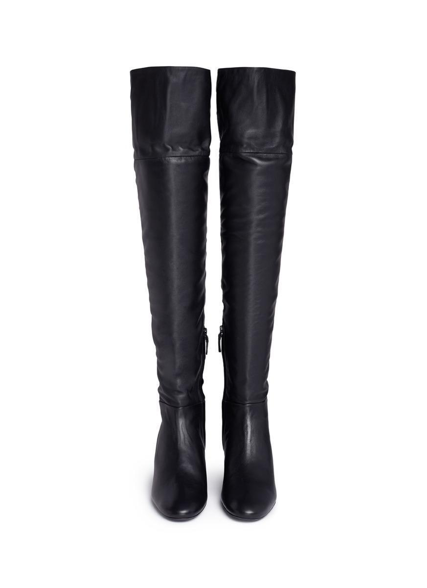 bellissimo Mercedes Castillo Aymeline nero Leather Over-the-knee stivali stivali stivali Sz 7  875 NWB  garanzia di qualità