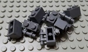 LEGO New Lot of 12 Dark Bluish Gray Creator Marvel Modular Curved Slope Pieces