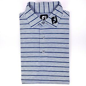 FootJoy-FJ-Collar-Polo-Shirt-Medium-White-Blue-Titleist-Edition-Golf-Mens-Size-M