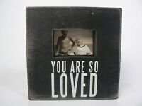 Primitives By Kathy You Are So Loved Wood Box Sign Photo Frame P22682