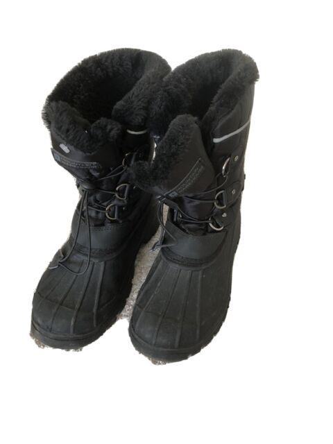 Mountain Warehouse size 4 boys snow boots (Black) Good Condition