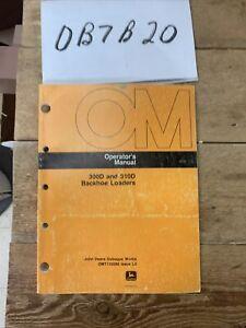 John Deere 300D 310D Backhoe Loader Owner Operator Maintenance Manual OMT135089