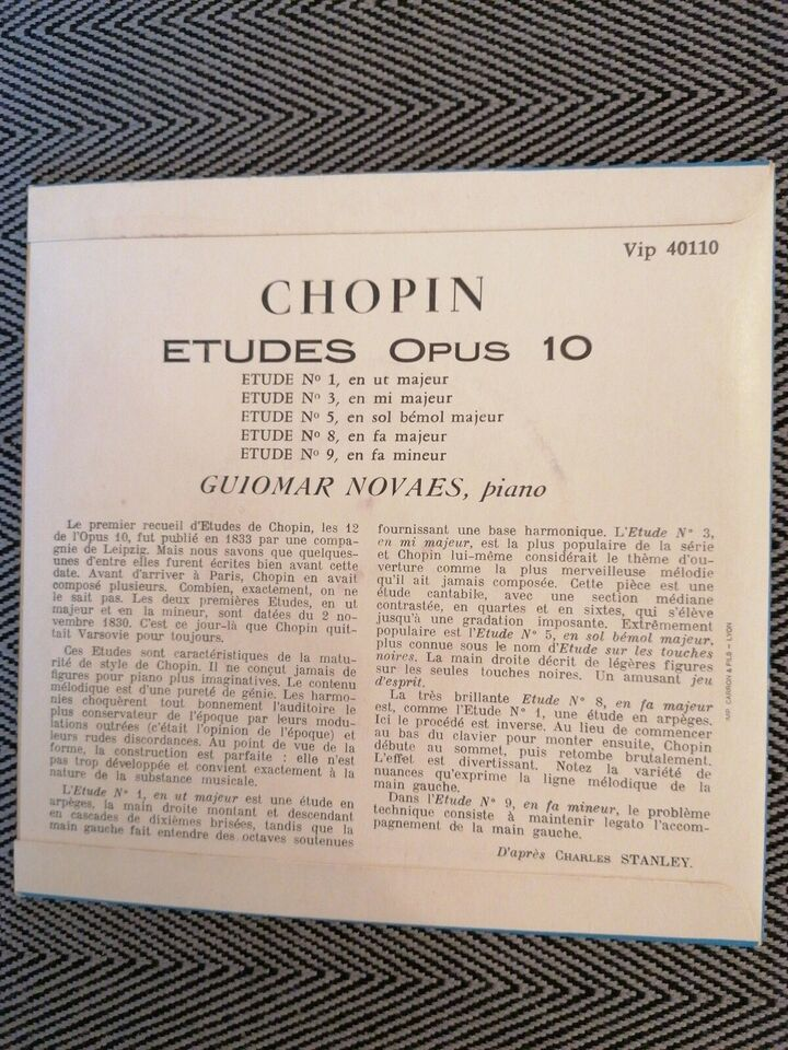 Single, Chopin, Guiomar Novaes