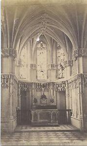 Interno Un Chiesa Per Indentifier Vintage Formato CDV Ca 1880