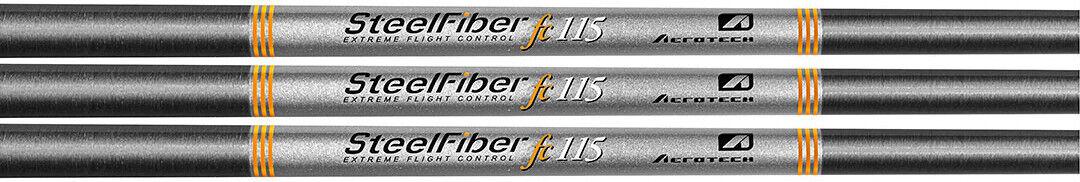 Aerojoech Steelfiber FC115cw .355 Ejes De Cuña Punta Cónica x-Stiff Flex-Conjunto de 3