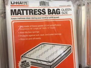 Uhaul Mattress Bag Qeen Size For Moving Plastic Cover
