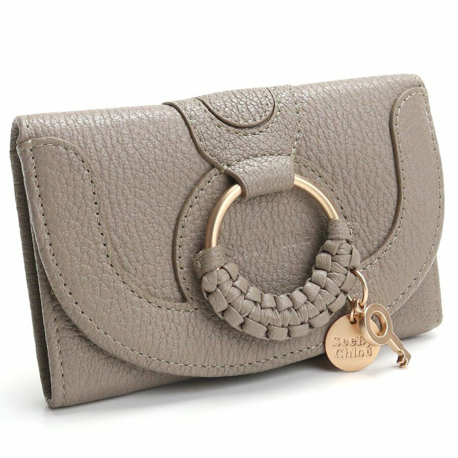 NWT SEE BY CHLOE Hana Compact Wallet Card Case Bill Motty Grey CHS17WP783305