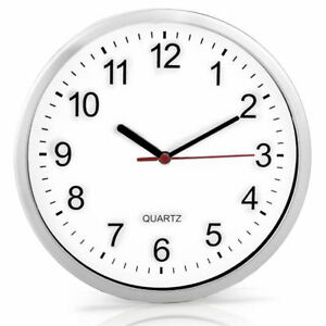 "8"" Analogue Plain Wall Quartz Clock Battery Powdered Home Decor Kitchen House 5039164438300"