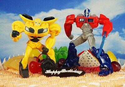 Transformers Robot OPTIMUS PRIME BUMBLEBEE Cake Topper ...