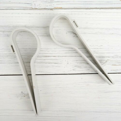 """36 White Plastic 6.5/"""" long Pew Clips DIY Wedding Ceremony Decorations Supply"""