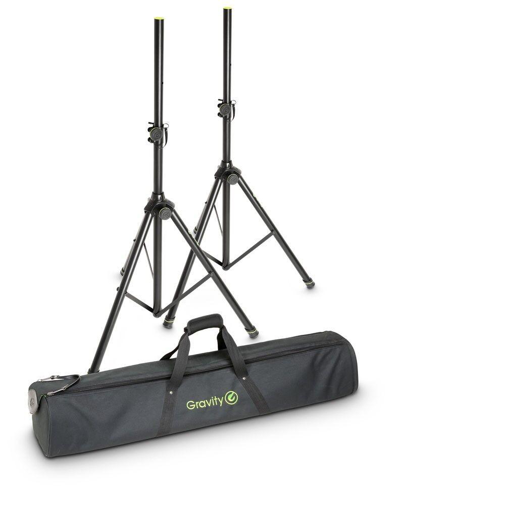 Gravity SS 5211 B SET 1  2x Boxenständern mit Tasche Speaker Stand Stativ Box PA