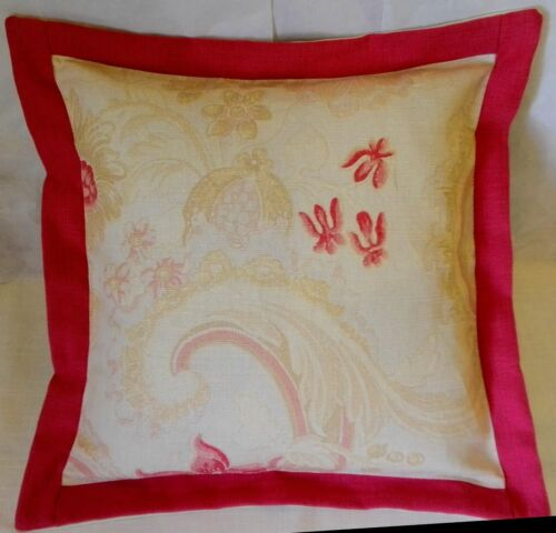 Laura Ashley Baroque Red floral Cotton Linen cushion covers 12 16 18 20/'/' BN