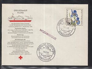 A 51 ) Germany beautiful Red Cross document auxiliary vessel flora in Mozambique