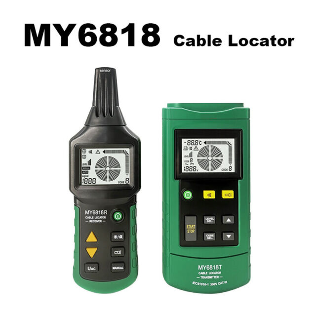 MY6818 Wire Locator Finder Tracker Telephone Network Metal Pipe Tester Detector