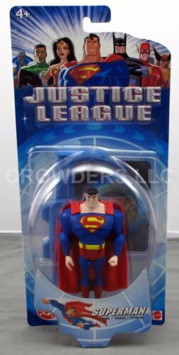 "DC Justice League Animated Series 4.75/"" Classic Superman Figure Mattel NIB 2003"