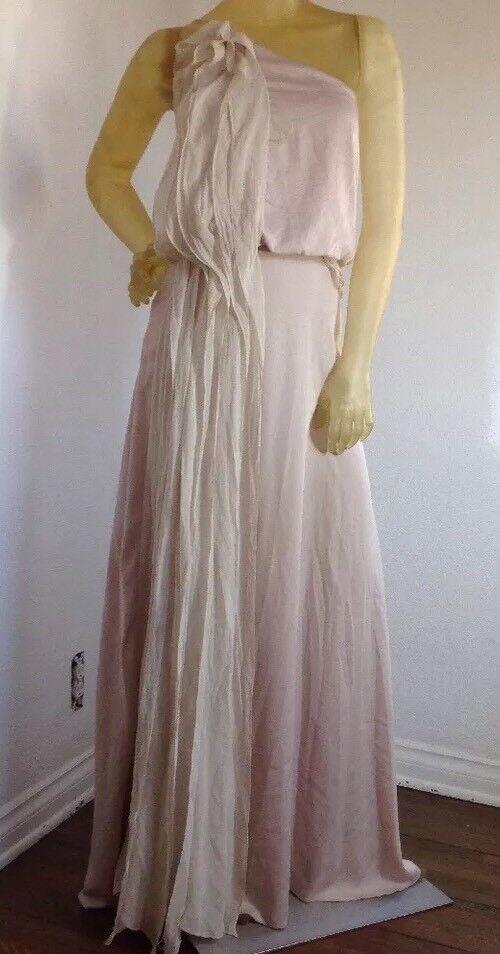 Nuevo Sin Etiqueta Bcbg Max Azria Seda un hombro vestido  largo B2042 Tallas  la calidad primero los consumidores primero