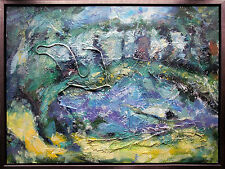 Jiawan Jang *1968 Kaifeng/China: Öl 90 x 120 cm Ausstellungs-Werk 1990er, Selten