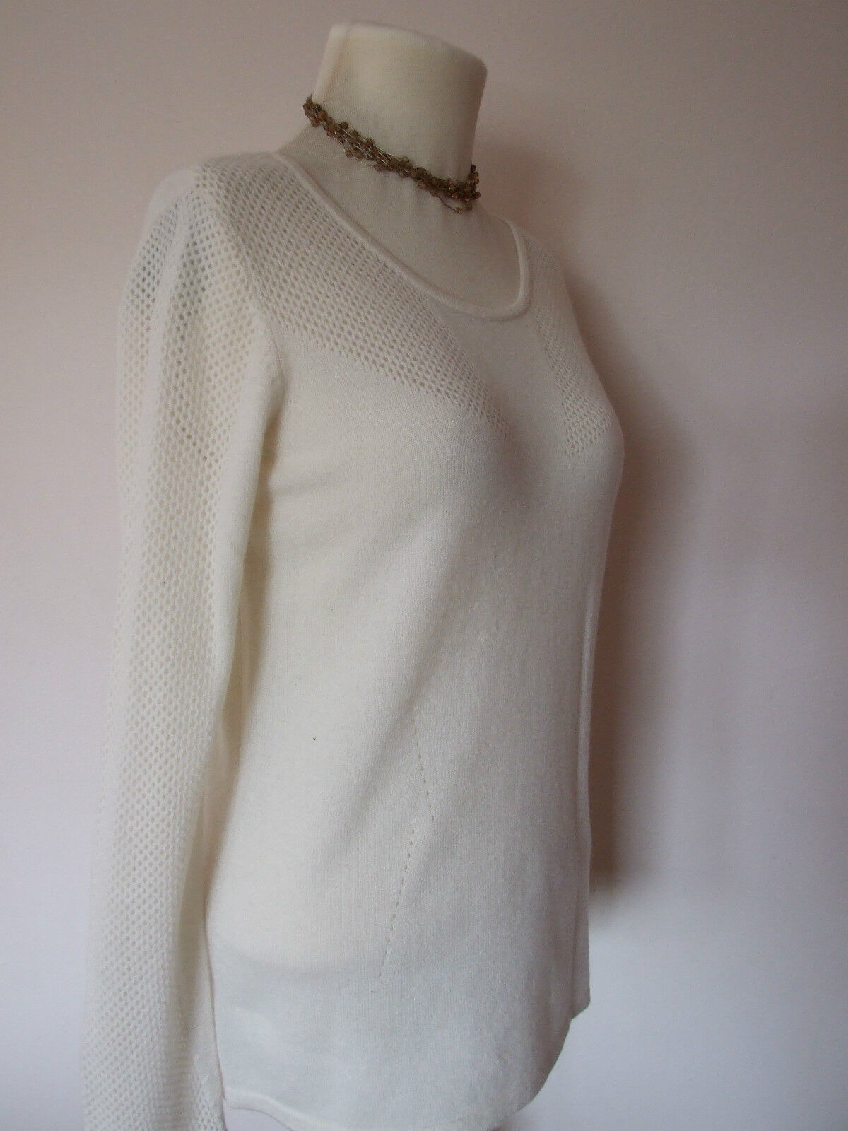 M&S Per Una Speziale Pure Cashmere Cream Pointelle Jumper sizes 8-22 bnwot RP