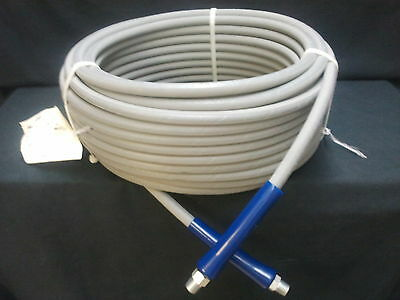 """100 ft 3//8/"""" Gray Non-Marking 6000 psi Pressure Washer Hose HOT WATER 100/' Foot"""
