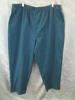 Bobbie Brooks Plus Size Woman's Pants Size 24w Turquoise Twill Elastic Waist