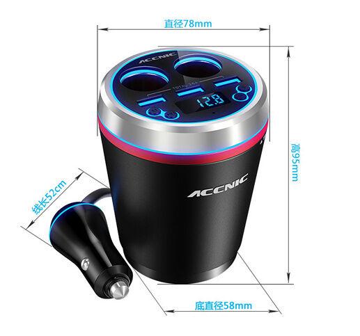 Car Kit Bluetooth Handsfree FM Radio MP3 Player 3 USB Charger 2 Ports Cigarette