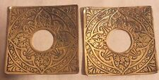 bougeoir chandelier bobeche carrée bronze fleurs paire (n°2)