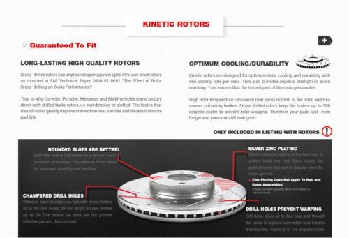 Rear Drill Slot Brake Rotors And Ceramic Pads For Acura TSX 11-14 Honda Accord