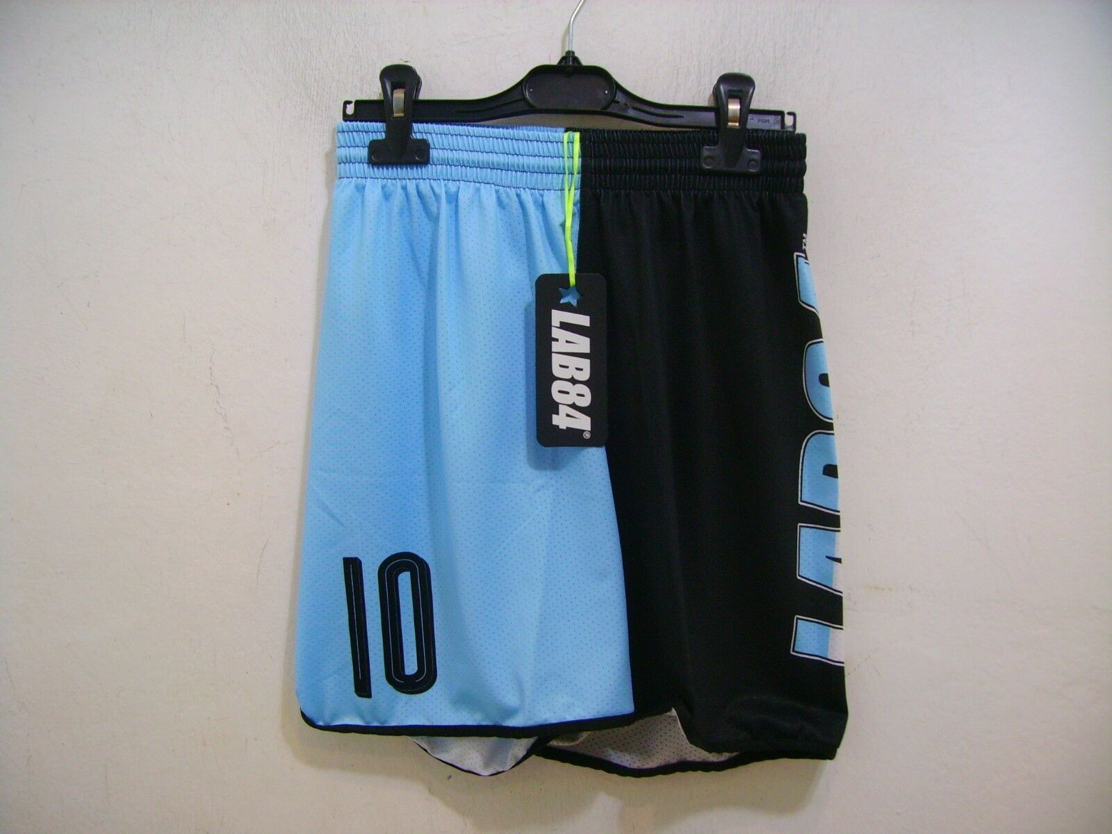 Lab84 Costume Pantaloncino Dryfit SHTU1008FLAG silverina black Azzurro