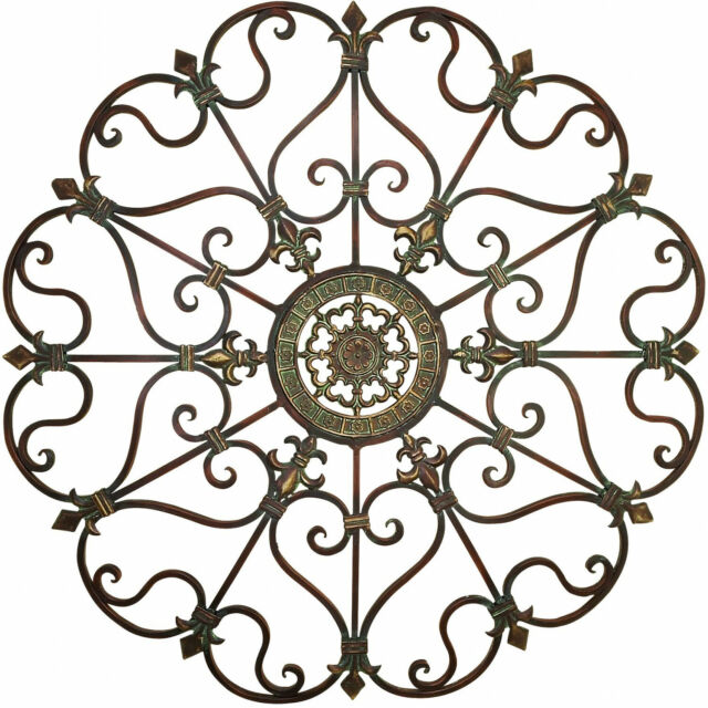 Round Tuscan Wrought Iron Wall Grille