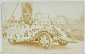 Odd-Fellows-No-12-RPPC-Decorated-Car-c1914-Real-Photo-Postcard-M19